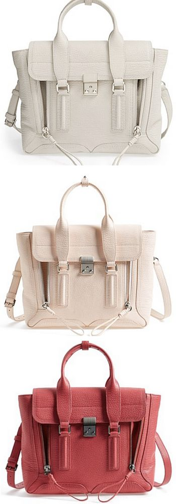 3.1 Phillip Lim - 'Medium Pashli' Leather Satchels - gorgeous colors!! http://rstyle.me/n/uhmkrnyg6