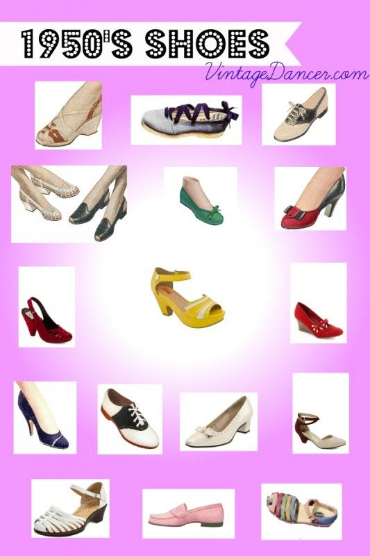 1950s Shoe Styles History And Shopping Guide Shopping