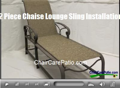 How To Repairs For Your Patio Chaise Lounges  Click The Link Below To