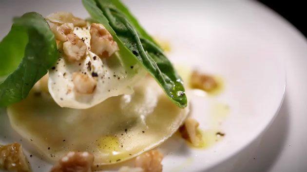 MKR4 Recipe - Walnut and Spinach Ravioli with Mascarpone and Basil