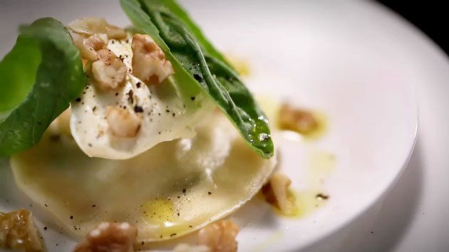 MKR4 Recipe - Walnut and Spinach Ravioli with Mascarpone and Basil
