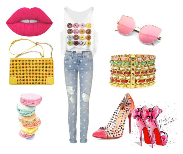 Untitled #21 by ana-maria-utea on Polyvore featuring Christian Louboutin, Chanel and Lime Crime