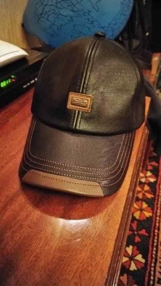 Men's PU Leather Baseball Cap Warm Winter Vintage Outdoor Sports Hats Adjustable #BaseballCaps