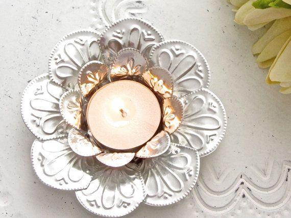 Lotus Flower Candle Holder Boho Wedding Decor by FoilingStar