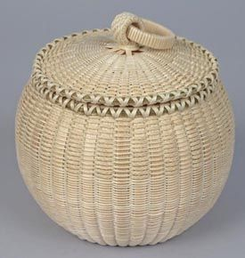 Jeremy Frey, Passamaquoddy Globe Basket with Braided Ash Year acquired: 2011 Made possible by additions to the Diane Kopec Fund from the f...