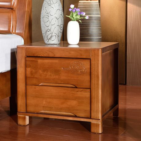 Nightstands Bedroom Furniture Home Furniture solid wood nightstands two  drawers 49*53*42 cm