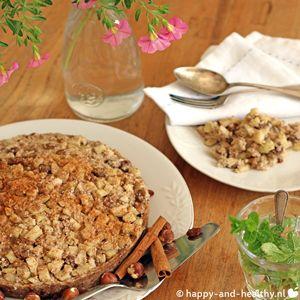 Raw appeltaart, happy and healthy style vol appels en noten