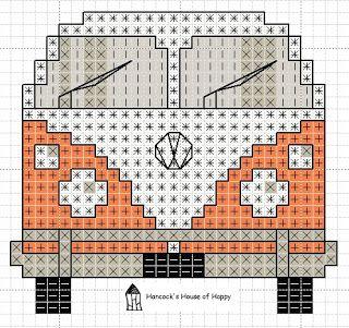 Por acaso encontrei esse gráfico de Kombi (famosas peruas) em ponto cruz, adorei! Via Pinterest: Link direto: