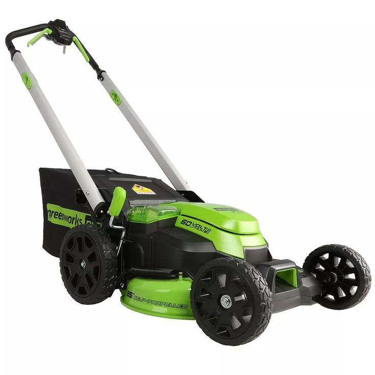 25 in selfpropelled mower with 4ah and 2ah batteries and