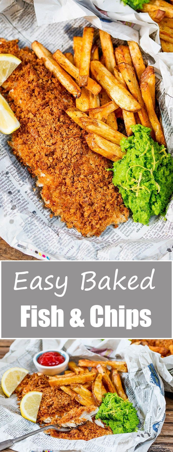 These fish and chips may be baked instead of fried, but they've still got all the flavour and crunch of the fried version! Easily made gluten free too!