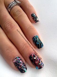Best 25 firework nails ideas on pinterest new years nail firework nails prinsesfo Gallery
