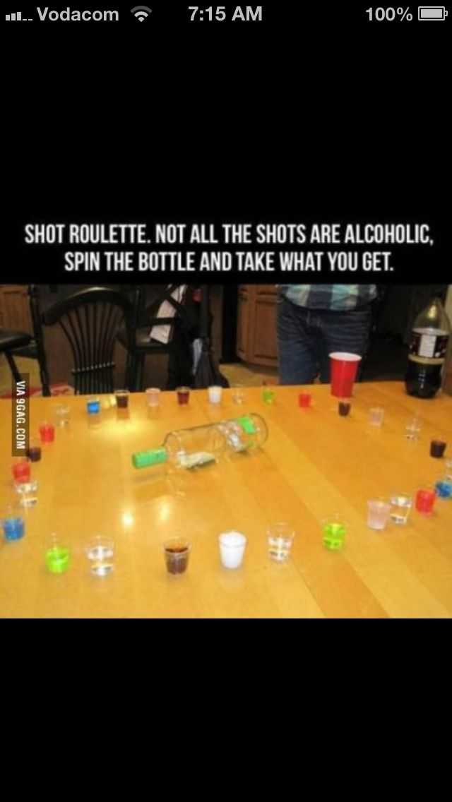 How to play russian roulette w/ liquor drinking games