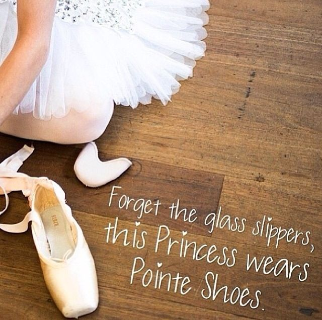 Pointe shoe over glass slipper any day!