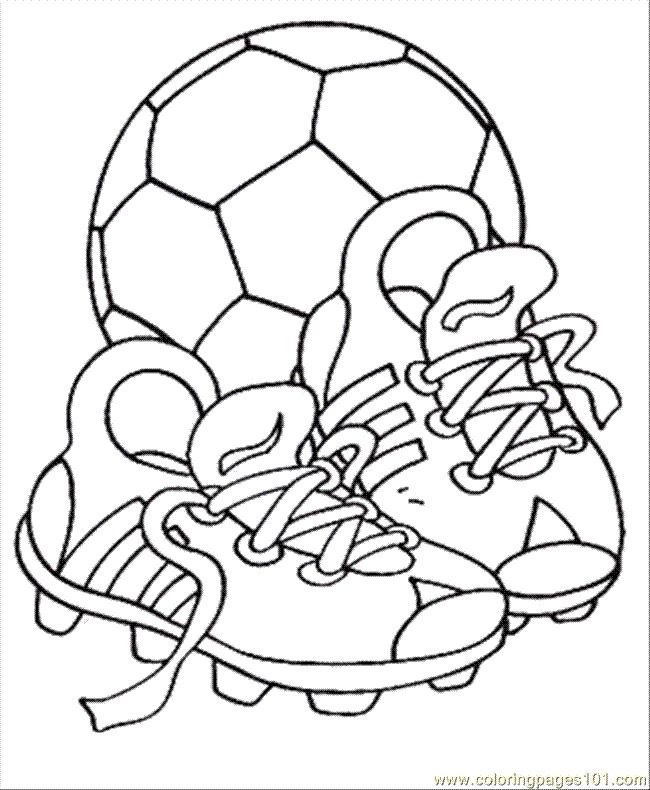 Soccer Ball Coloring Pages | coloring page Soccer S Shoes With The Ball (Entertainment > Shoes