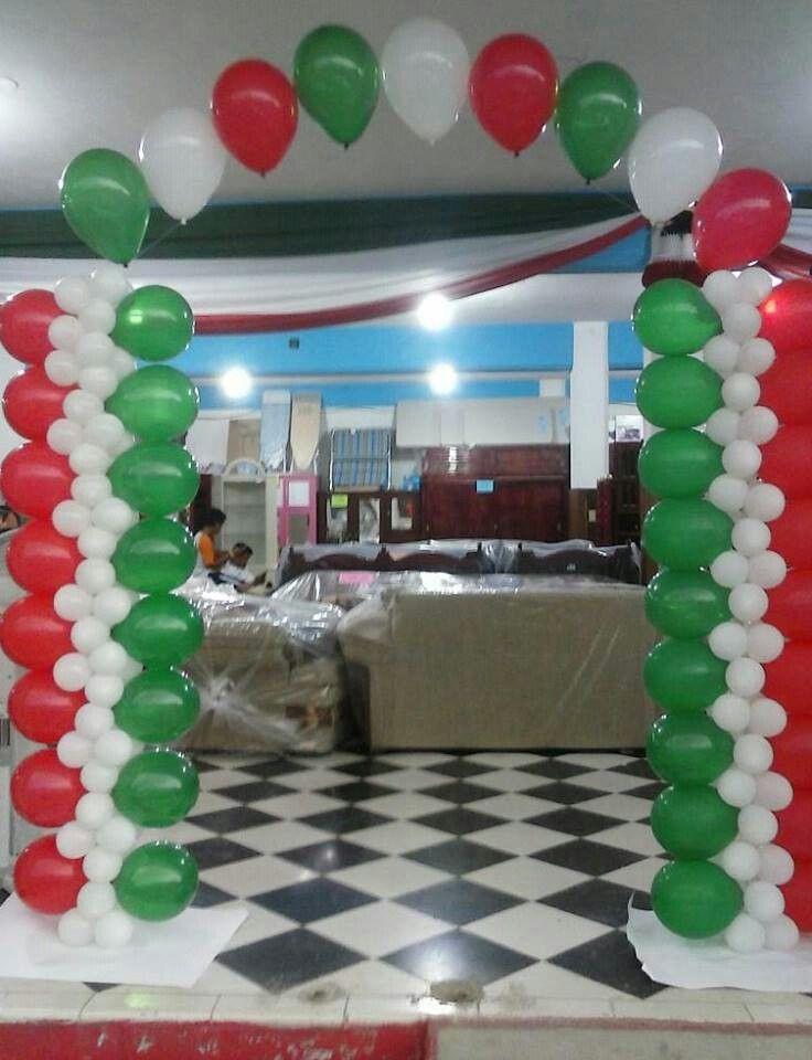 Spanish themed balloon columns and single archperfect