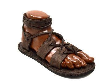 Women's Gladiator Sandals / Chocolate Brown by TreadLightGear