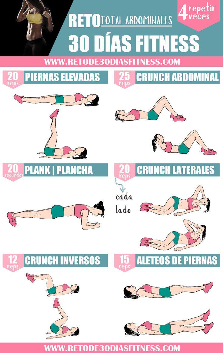 Rutina para tonificar los abdominales | Workouts Fitness – Reto de 30 días Fitn…