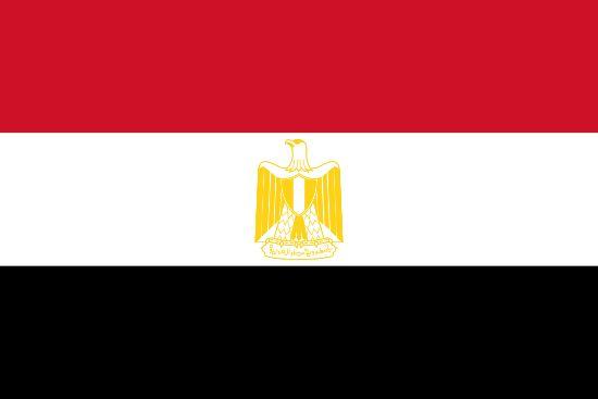 La bandera de Egipto
