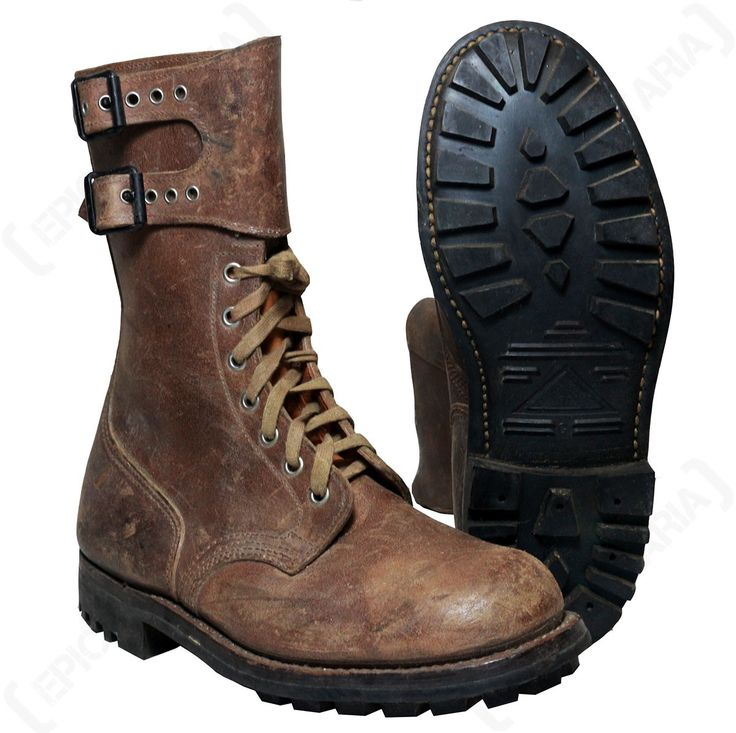 Original French Army Brown Ranger Boots