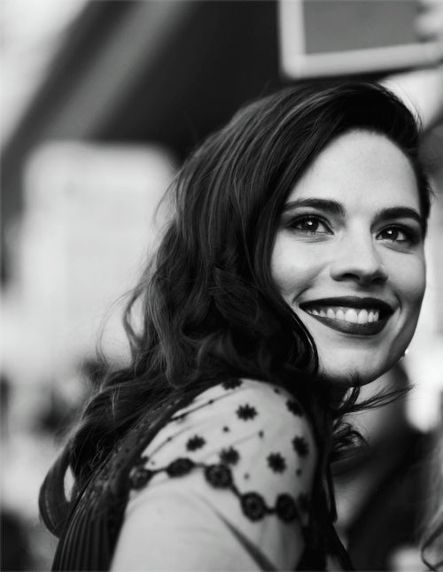 Hayley Atwell - actually the most gorgeous lady on the planet? I covet her eyebrows.