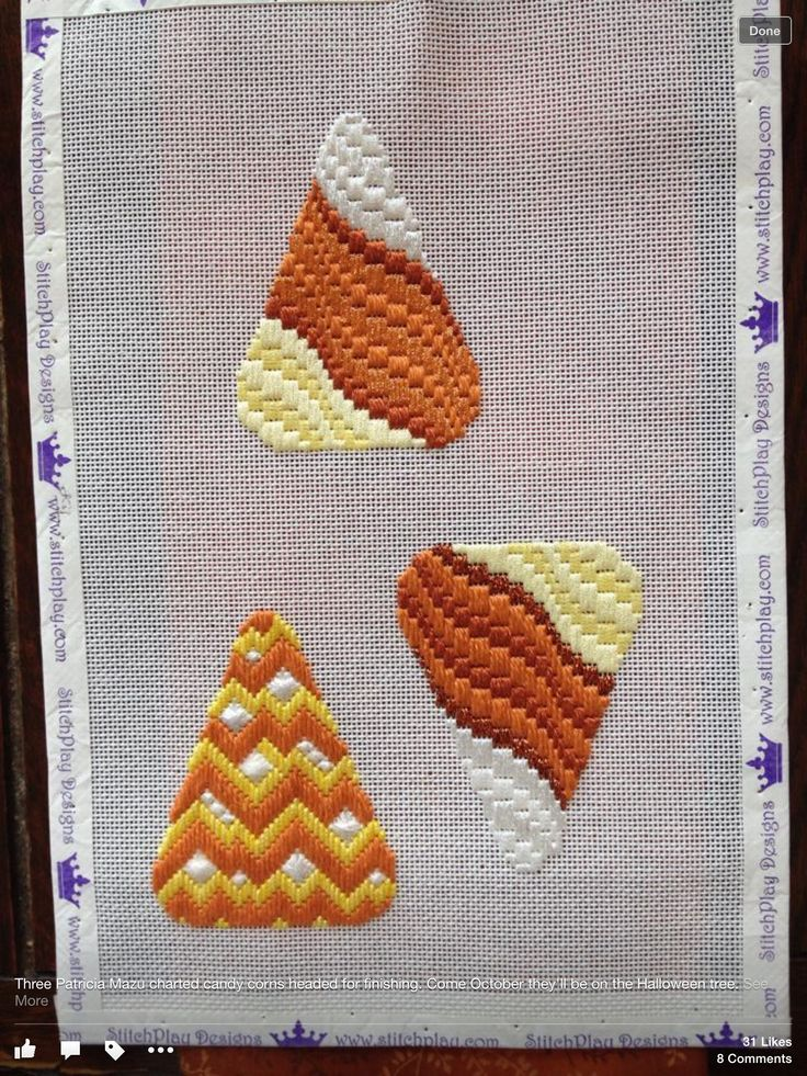 candy corn needlepoint bargello