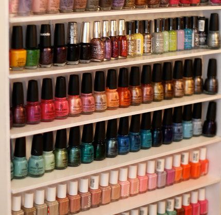 easy diy wall organizers nail polish rack click pic for 19 diy storage ideas for small. Black Bedroom Furniture Sets. Home Design Ideas