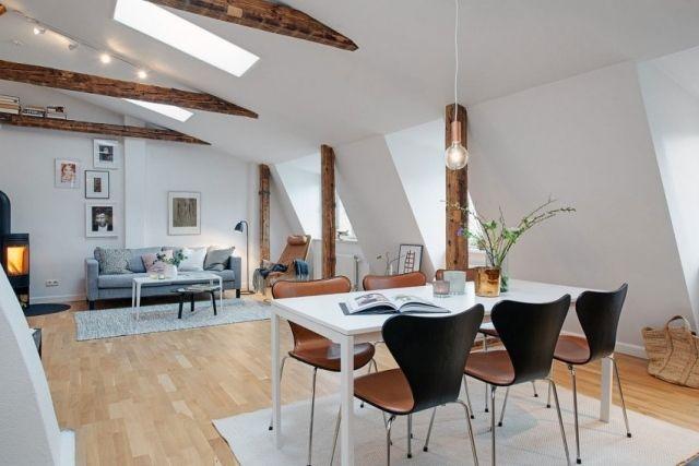 素朴な要素と現代的なスカンジナビアスタイルのスタジオ