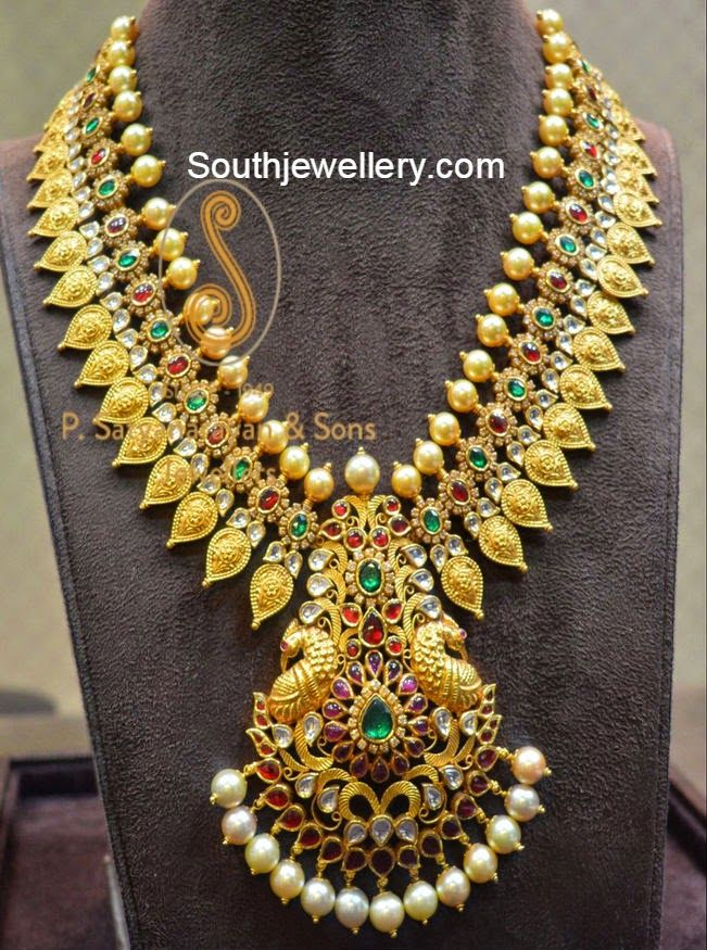 mango designed statement bridal necklace