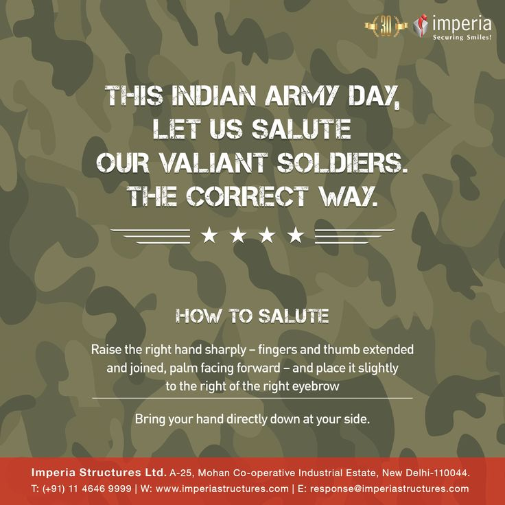 THIS INDIAN ARMY DAY, LET US SALUTE OUR VALIANT SOLDIERS. #ArmyDay #IndianArmy #ImperiaStructures