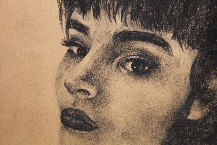 #art #painting #portrait #girl #brunette #brune #dark #black #drawing #sketch #artist #brush #уголь #картина #портрет #рисунок #artwork #эскиз #набросок #искусство #drawing #charcoal #charcoalsachet #wip