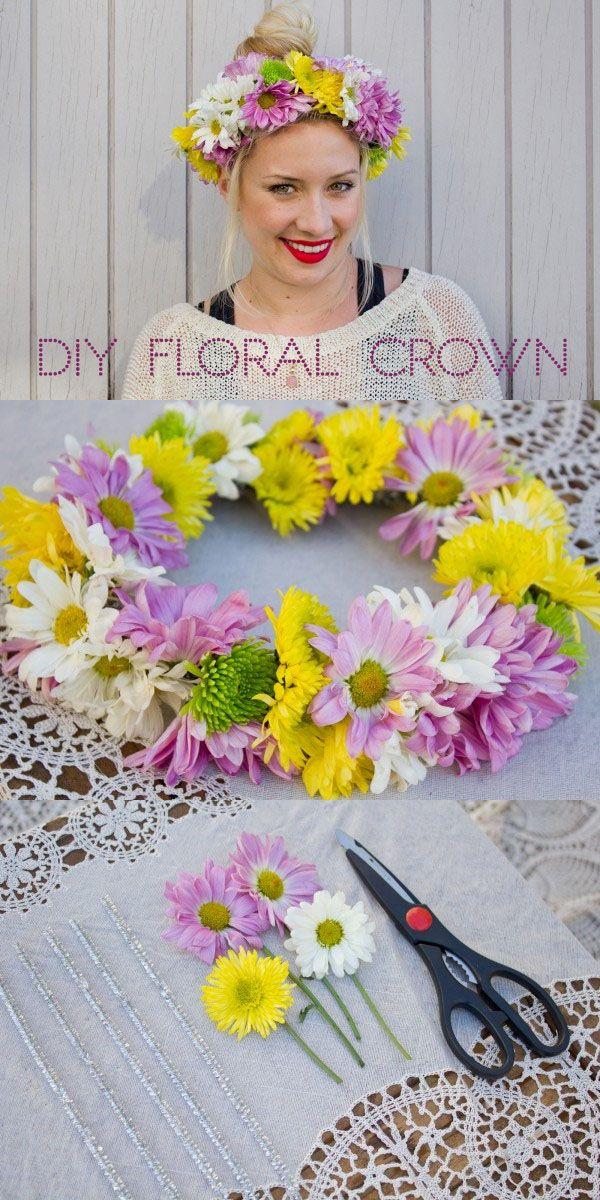 DIY floral crown - refinery 29