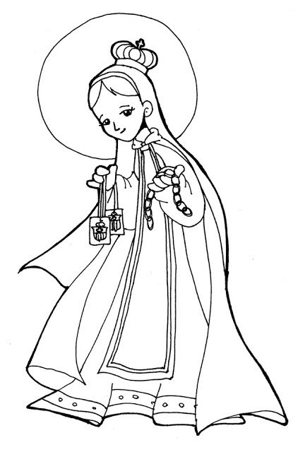 Virgin Mary Of Mercy Coloring Pages