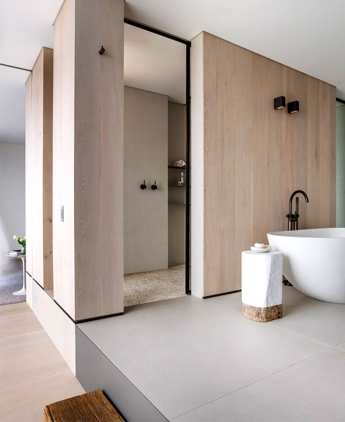 #modern #bathroom #tub - Vaucluse House in Sydney with Inviting Natural Ambiance - InteriorZine