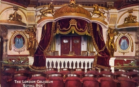The Royal Box at the Coliseum, London circa 1905