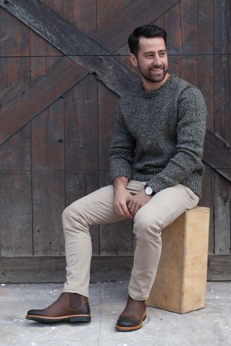 mode homme automne hiver 2017 2018 outfit très modernes bottines chelsea