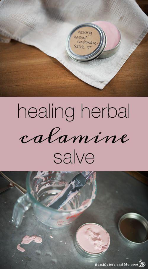 Healing Herbal Calamine Salve  30g | 0.7oz sunflower oil, plus more as needed 20g | 0.35oz shea butter  1 tsp dried calendula petals 1 tsp dried arnica flowers 1 tsp dried comfrey bark  10g | 0.35oz zinc oxide (approximately 2 tsp) 8g | 0.28oz beeswax 1g | 0.03oz vitamin E 1 nip | 1/64 tsp red iron oxide