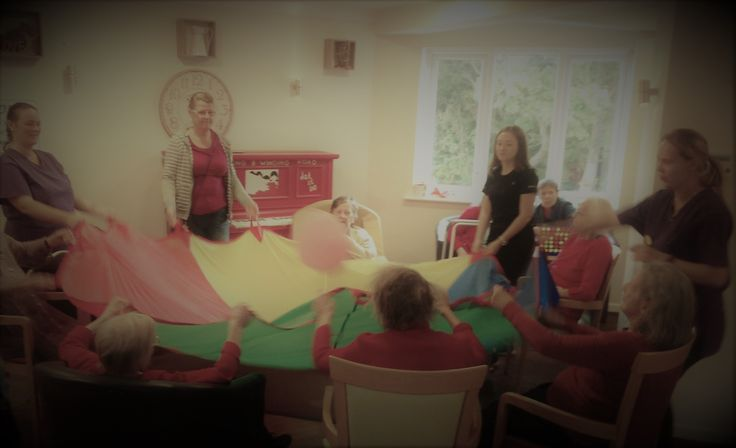 Fun with balloons at Birch Green - Birch Green Care Home Skelmersdale