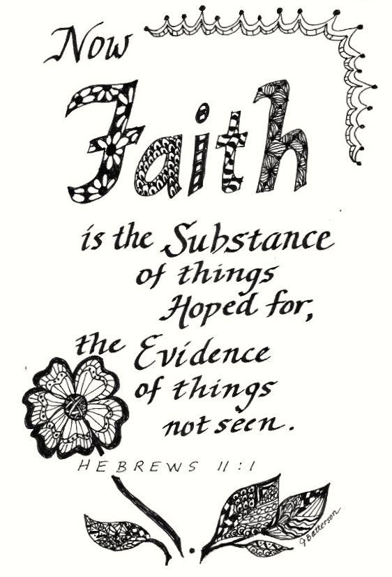 Faith Zentangle doodle of verse