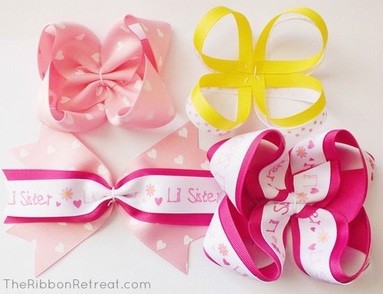How to Make Bows: Twisted Boutique, Pinwheel, Spikes, Surround Loops - and how to layer them!  {The Ribbon Retreat Blog}