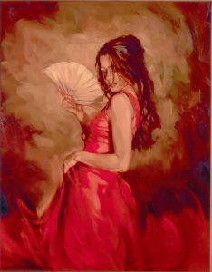 "Mark Spain piece. It is called, ""Heat of The Moment""  *I also have this painting. Very passionate/romantic paintings*"