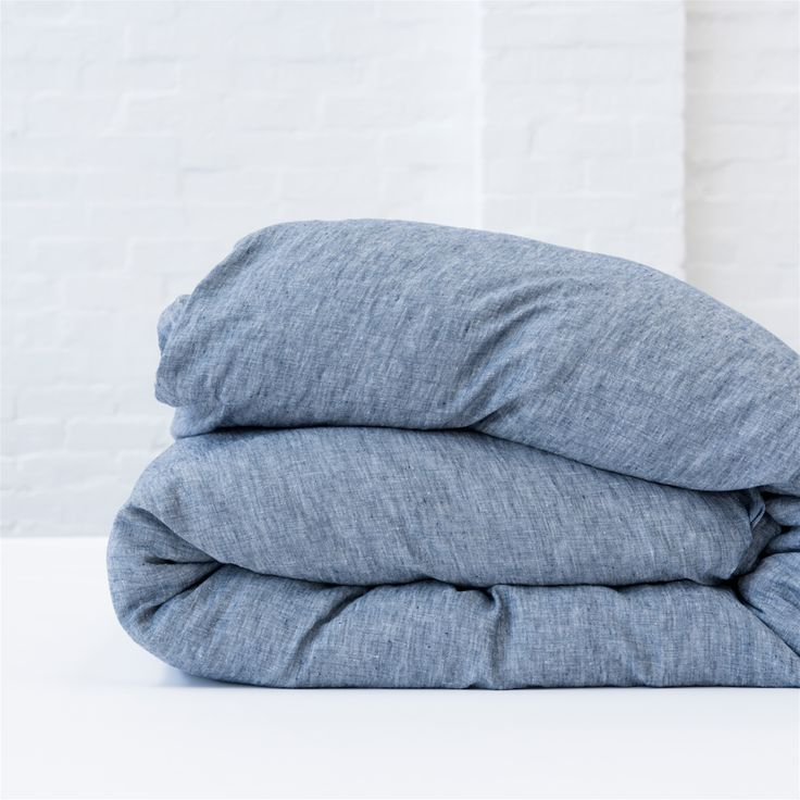 REVERSIBLE DUVET COVER - DENIM / NATURAL