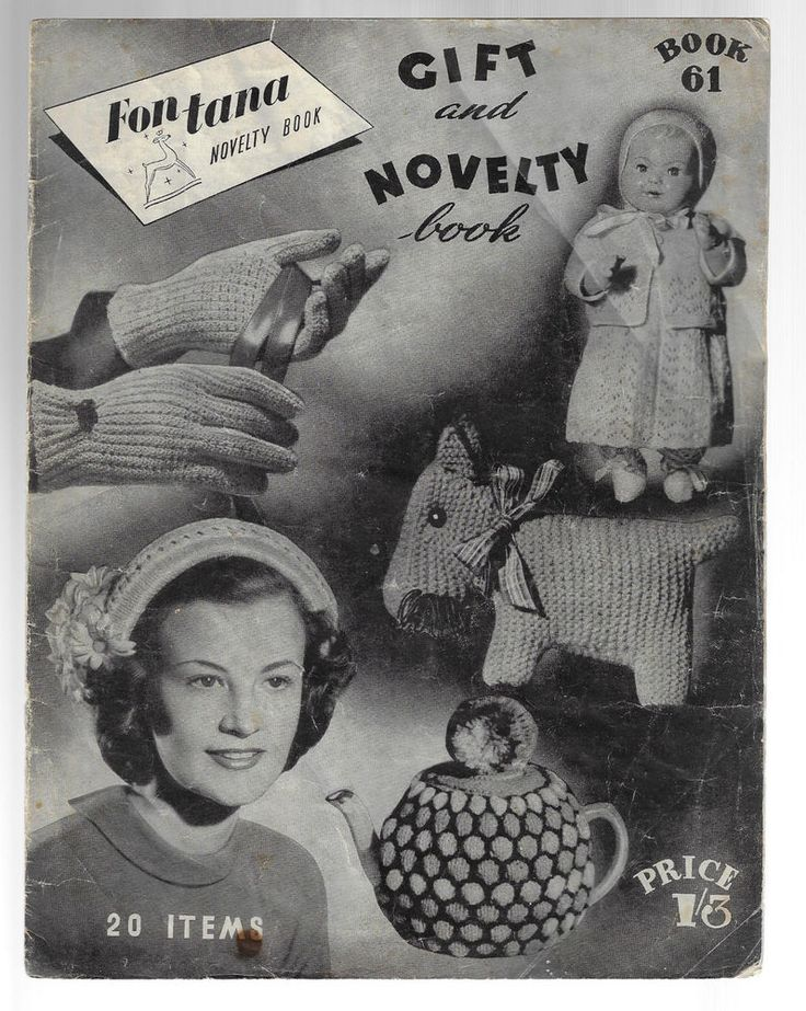 Gift & Novelty Book Fontana 61 vintage knitting & crochet pattern SCARCE #Fontana