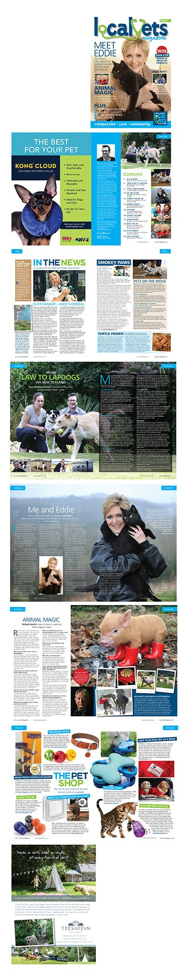 A selection of pages from the 28 page magazine for client Local Vets #magazinedesign #graphicdesign #publishing #magazinelayout #magazines