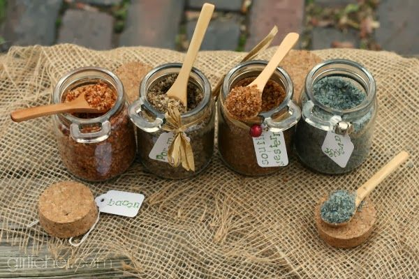 Gifts from the Kitchen! Flavored Sea Salts {DIY} #HandcraftedHolidays at www.girlichef.com