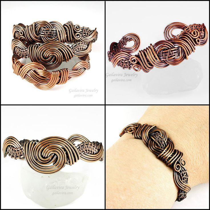 Woven Copper Cuff Bracelets by sylva on DeviantArt