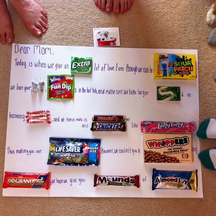 father's day candy poster card