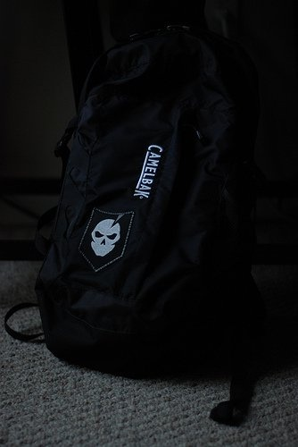 Decided to sew on the patch since my camelbak doesn't have any velcro panels
