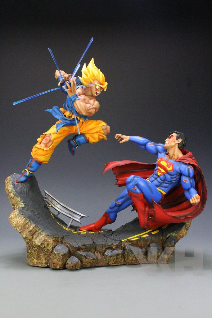 Dragon Ball x DC VKH Super Saiyan Son Goku VS Superman Resin Statue http://amzn.to/2rW94YB