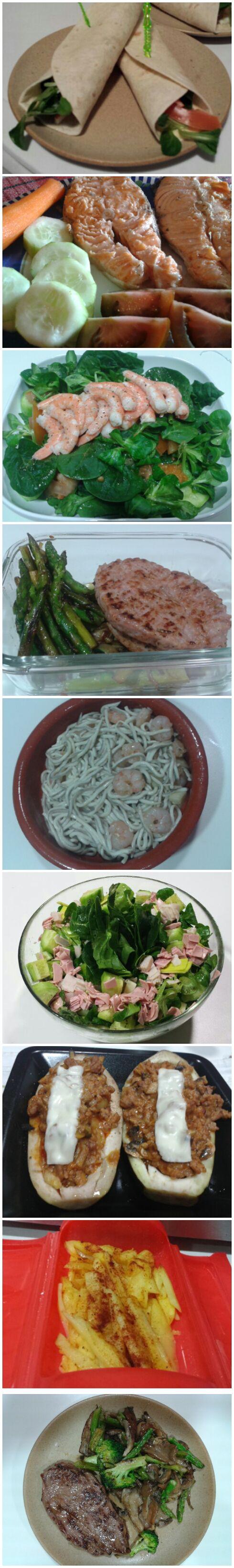 healthy food. Healthy dinner suggestions, no carbs, low fat.  Comida sana, sugerencias de cenas bajas en grasas y carbohidratos