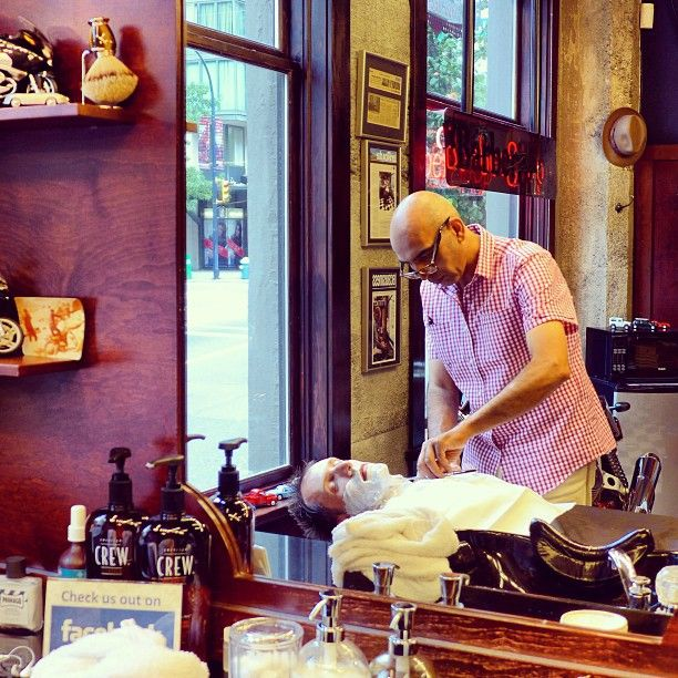 Straight razor shave by Farzad the Barber... #neighbourhood #barbershop #yaletown #vancouver #barber #shave #straightrazorshave #yaletownbarber #farzadthebarber  Read more at http://web.stagram.com/n/barberboss/#ijZXC5ViSsVbtMVG.99 -@Farzad's Barber Shop (Shelley Salehi) 's Instagram photos | Webstagram - the best Instagram viewer